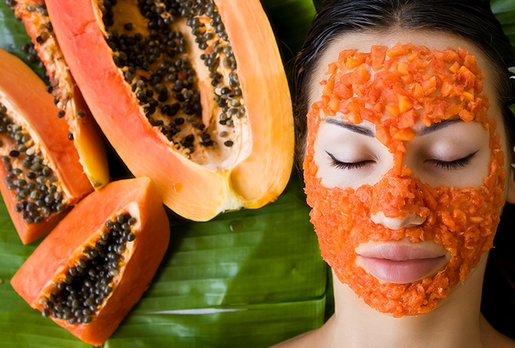 Papaya: How can I brighten my face instantly?