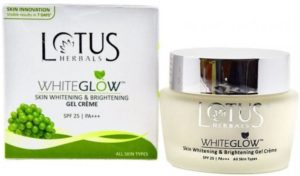 Best Fairness Cream in India: Lotus Herbal Skin Whitening and Brightening Gel Crème