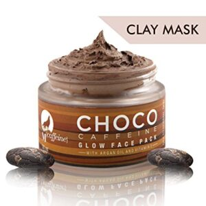 MCaffeine Choco Caffeine Glow Face Mask for Oily/Normal Skin with Argan Oil and Vitamin E - Clay Based