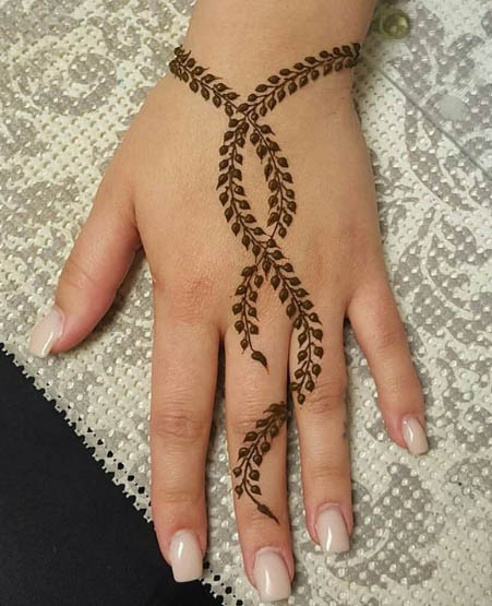 Easy Mehndi Design for Hands